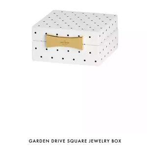 kate spade garden drive square jewelry box nwt